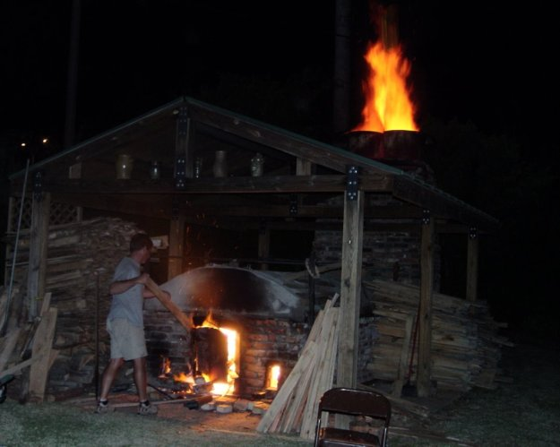 wood fired kiln