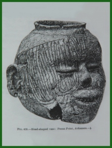 Ancient Native American Face Vessel