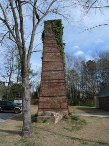 Brick chimney from Landrum's brick factory