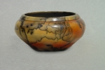 Horse Hair Raku Vase: Porcelain, terrasigilata, horse hair