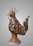 Rooster: Earthenware, glazes, underglazes
