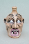 Face Jug: Local clay with underglaze and glaze
