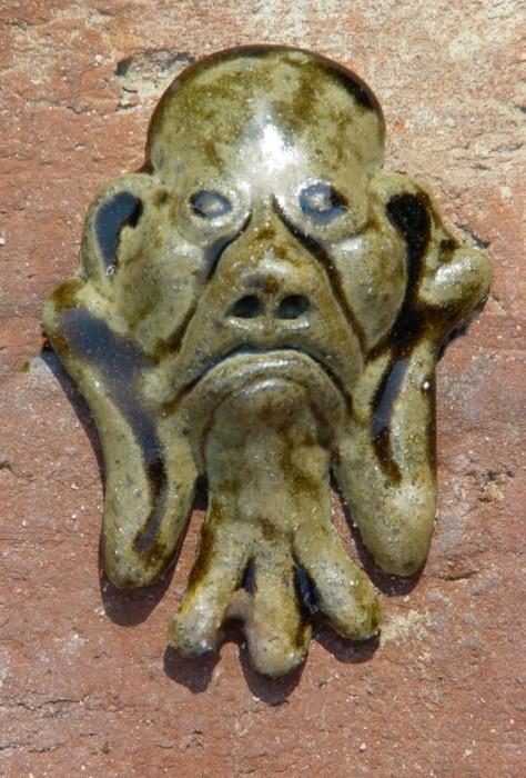 Local stoneware clay, iron slip, alkaline glaze, wood-fired-SOLD