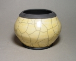 Raku Bowl: Local clay, raku glaze
