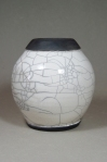 Raku Jar: Local clay, raku glaze