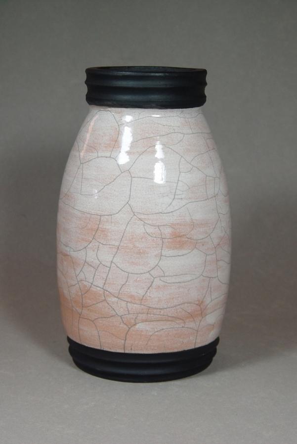 Raku Jar: Local clay, raku glaze