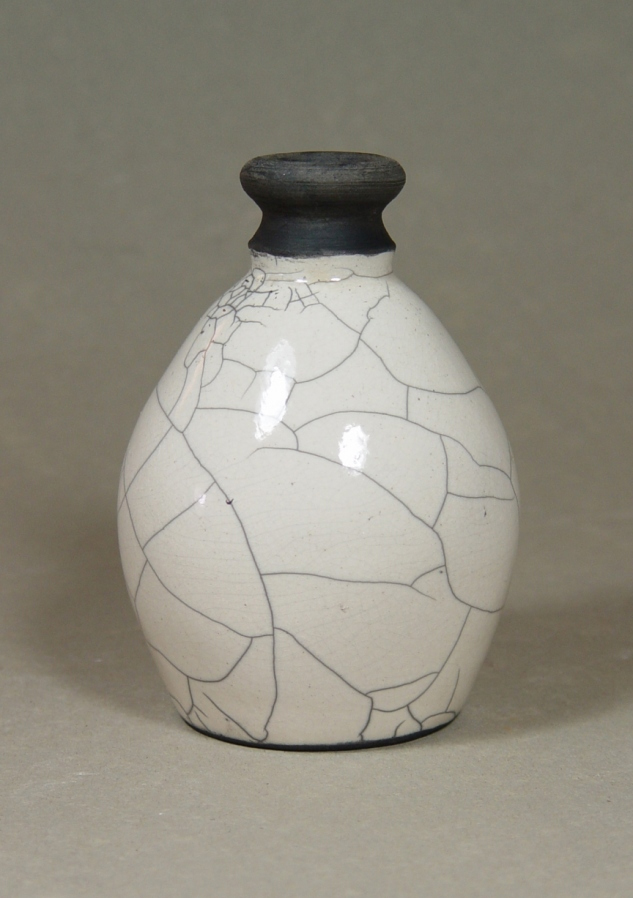 Raku Jug: Local clay, raku glaze