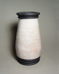 Raku Vase: Local clay, raku glaze