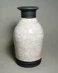 Raku Vase: Local clay, raku glaze